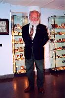 Франко Лоренци в музее своей семьи